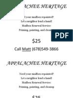 Appalachee Heritage