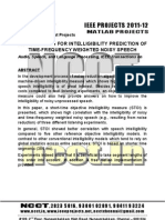 NCCT-2011 IEEE Matlab Project Abstracts, 2011-12