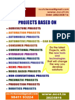 NCCT-Mechanical Model Projects Titles, 2011