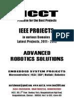 NCCT-Robotics Project Titles, 2011