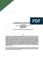 Governing Enterprises in Transition Economies