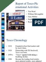 A Report of Tesco Plc International Activities