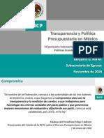 Transparencia y política presupuestaria en México