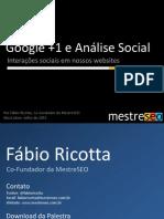 Google + e a Analise Social