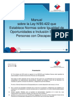 Manual Sobre La Ley N20422