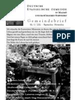 Gemeindebrief Herbst 2011