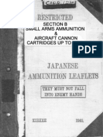 Japanese Ammunition Leaflets Section B - Japanese Small Arms & Aircraft Cannon Ammunition