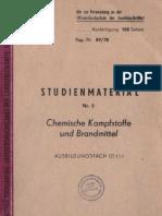 Studienmaterial Nr. 5 / Chemische Kampfstoffe und Brandmittel / Ausbildungsfach