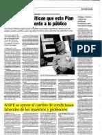 ANPE Critica Medidas Cospedal. Artículo de La Tribuna de Albacete 2-9-2011