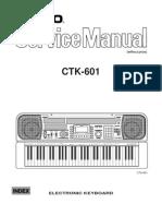 Casio CTK601 Service