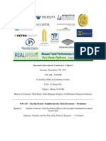 September 17th 2011 Calgary Alternative Investment Conference
