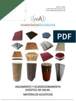 Materiales Acusticos - Manual de to y Acondicionamiento Acustico de Salas