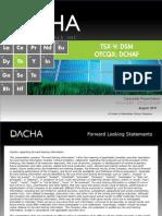 Dacha Strategiv Metals Aug 2011 Presentation