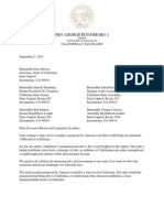 2011-09-02 Letter to Governor and Legislative Leaders Re Amazon Tax Revenues