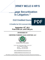 Mortgage Securitization in Litigation Seminar[1]