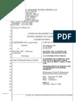 Motion for PI Under Californa Law