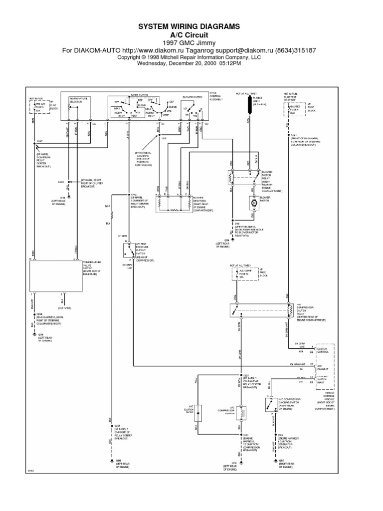 Blazer 97 Electrical Diagram | Headlamp | Car Body StylesScribd