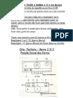 05) Orla Perfeita Amostra Barra 2 x 2 Para Blusa Em Linha De Algodão ou Acrílico