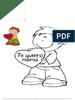 DIBUJO NIÑO - DÍA DE LA MADRE