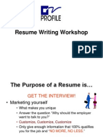 Resume Writing Short Version