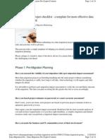 Data Migration Project Checklist