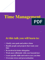 Time Management Talk