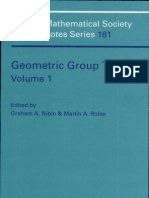 Geometric Group Theory, Volume 1