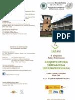 PROGRAMA II SIMPOSIO INTERNACIONAL | ARTE Y ARQUITECTURA, ARQUITECTURA VERNÁCULA IBEROAMERICANA