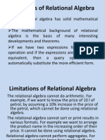 Advantages of Relational Algebra