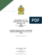 NWSDB Amendment) Act No. 13 of 1992