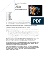 Planetary Test Study Guide