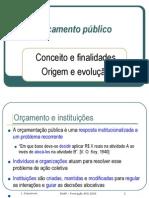 1. Orçamento público e instituições orçamentárias