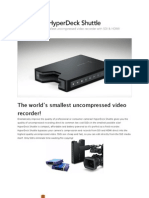 Blackmagic Design HyperDeck Shuttle - The world's smallest uncompressed video recorder!