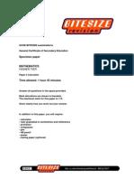 Bbc Bitesize GCSE Extended Paper