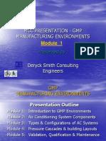 Cleanroom Manufacturing Basic Presentation