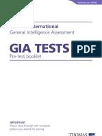 GIA Pre Test