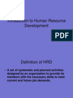 Lecture One Intro to Hrd