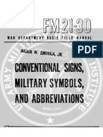 Conventional Signs, Military Symbols, Abbreviations _fm 21-30-1943