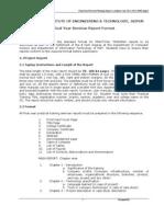 Practical Training Seminar Report Format