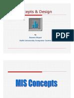 MIS Concepts & Design