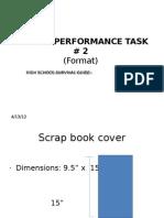 Performance Task 2 Format