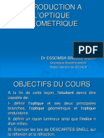 INTRODUCTION A L'OPTIQUE GEOMETRIQUE