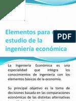 Elementos para el estudio de la ingeniería económica