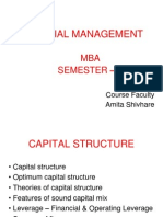 Unit 2 Capital Structure