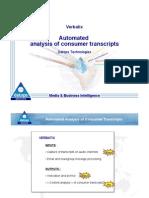 Slides de présentation de la technologie Verbatix de Datops