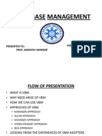 Value Base Management