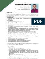 Mian Imran CV