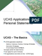 UCASandpersonalstatementpresentation