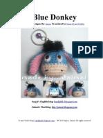 Blue Donkey Free Amigurumi Pattern