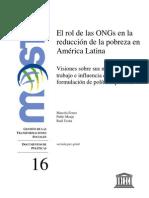 UNESCO Rol de Las Ong en Reduccion de Pobreza en America Latina